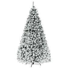 Artificial Christmas Tree Pre lit Flocked Hinged Pine Tree  Retail 258 49