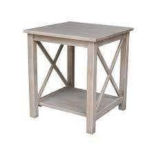 solid hardwood hampton end table unfinished