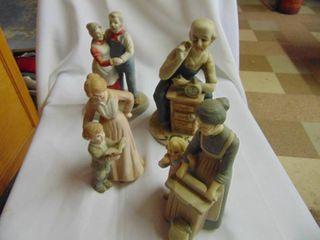 4 GEI Ceramic Figurines