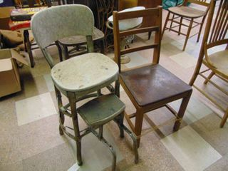 Chair and Kitchen Stool