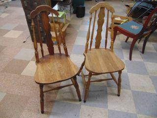 Pair of vintage oak Chairs