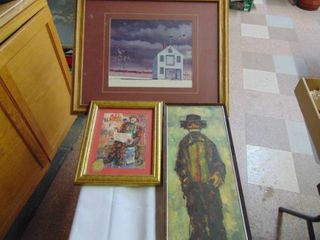 2 Clown Pictures and landscape