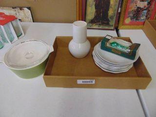 Green Corning Ware Dish and More