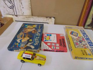 Plastic Toy Car and Board Games