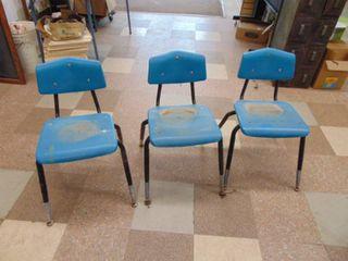 3 Plastic Children s Schoolchairs
