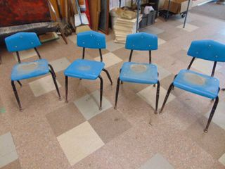 4 Plastic Children s Schoolchairs