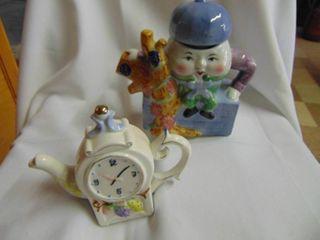 Humpty Dumpty Tea Pot and More