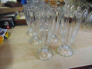 6 Vintage Sundae Glasses