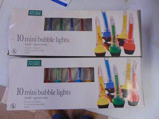 2 Sets of Mini Bubble lights  Works