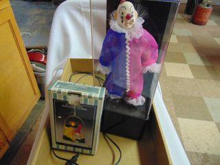 Windup Clown in Display Case