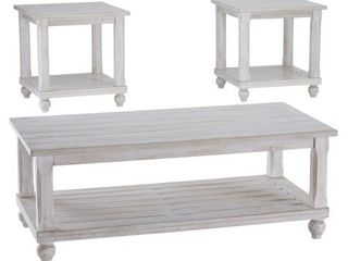 Set of IJ Cloudhurst Occasional Table Set White   Signature Design by Ashley NOT COMPlETE