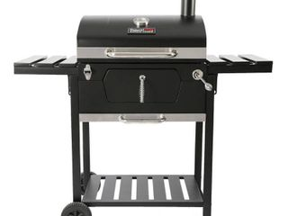 Royal Gourmet CD1824E  23 inch Charcoal BBQ Grill  492 Square Inches  For Outdoor Picnic  Patio Cooking  Backyard Party   Not Inspected   Used  Damaged
