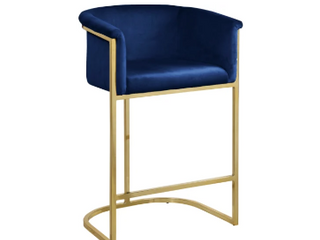 Meridian Furniture 700Navy C Gold Bar Chair  Not Inspected
