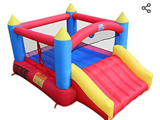 Action Air Updated Version Bounce House Inflatable Bouncer With Air Blower Ju    Not Inspected b