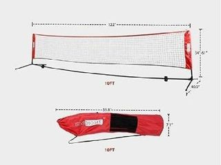 VIVOHOME Portable 17ft Height Adjustable Outdoor Badminton Net and Carry Bag for Volleyball Soccer Tennis Pickleball Red