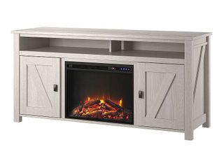 Ameriwood Home Farmington Electric Fireplace TV Console up to 60  in Ivory Oak