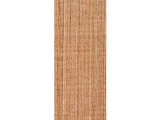 nulOOM Natura Collection Chunky loop Jute Runner Rug  2  6  x 6  Natural