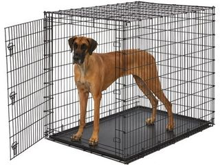 MidWest XX large Single Door Wire Dog Crate  54  NOT FUllY INSPECTED OUTSIDE BOX