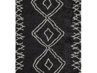 Momeni Rugs Maya Collection Ultra Thick Pile Shag Area Rug  2  x 3  Black