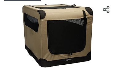 Amazonbasics Folding Soft Dog Crate For Crate trained Dogs   Not Inspected