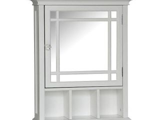 Elegant Home Fashions Neal Bathroom Cabinet  One Size  white