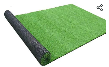 Gl Artificial Turf Grass lawn 5 FT x8 FT  Realistic Synthetic Grass Mat  Indoor Outdoor Garden lawn landscape for Pets Fake Faux Grass Rug with Drainage Holes  Used