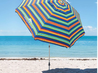 Tommy Bahama Beach Umbrella 2020 Stripes   Not Inspected