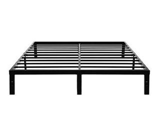 45MinST 14 Inch Platform Bed Frame Easy Assembly Mattress Foundation   3000lbs Heavy Duty Steel Slat Noise Free No Box Spring Needed  Cal King