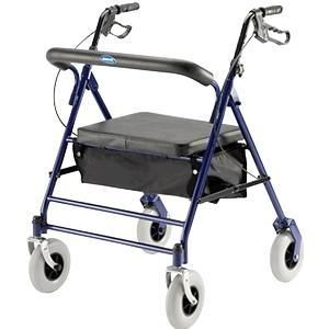 Invacare Bariatric Rollator  with Flip up Padded Seat  500 lb  Weight Capacity  66550   Not Inspected