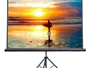 VIVO 100  Portable Projector Screen 4 3 Projection Pull Up Foldable Stand Tripod  PS T 100