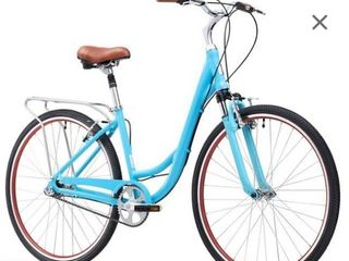 sixthreezero Around The Block Women s Single Speed Beach Cruiser Bicycle  26  Wheels  Teal Blue with Black Seat and Grips