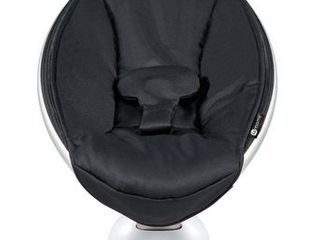 4moms mamaRoo 4 Baby Swing   Bluetooth Baby Rocker with 5 Unique Motions   Smooth  Nylon Fabric   Black Classic  USED WORKING CONDITION UNKNOWN