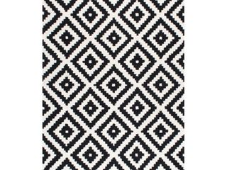 nulOOM Kellee Contemporary Wool Accent Rug  2  x 3  Black