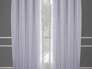 84 x52  Caterina layered Solid Blackout With Sheer Top Curtain Panels Gray   Exclusive Home   Not Inspected