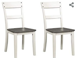 Signature Design By Ashley Nelling Dining Room Side Chair Set Of 2 Two tone   Not Inspected