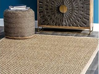 nulOOM Spero Seagrass Solid Outdoor Rug  2  x 3  Natura