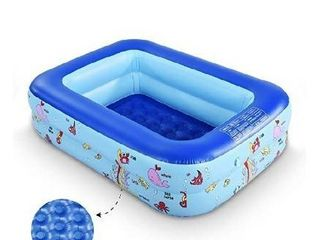 WateBom Inflatable Family Swim Center Pool with Inflatable Soft Floor  Ocean World Kids Swimming Pool