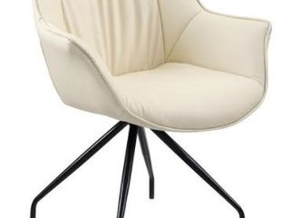 Art leon Modern Swivel Faux leather Desk Chair with Black Metal legs