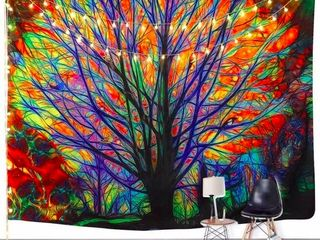 Fashion Tapestry Colorful Tree Tapestry