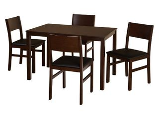 5pc lucca Dining Set Brown