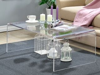 Clear Acrylic Coffee Table  Retail 287 19