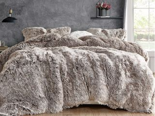 Coma Inducer Comforter Oversided Queen Comforter and 2 Shams  Frosted Chocolate