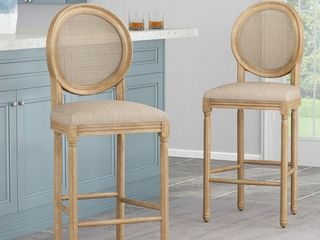 Epworth French Country Wooden Set Of 2 Barstools