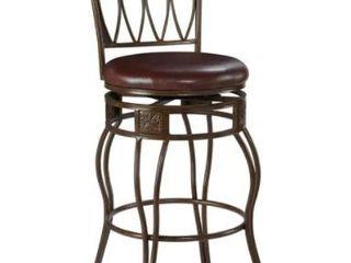 linon Bronze Bar Stool  Elliptical Back Design  Retail 131 49