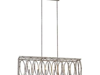 Feiss Deep Abyss Patrice 6 light Outdoor Taper Candle Chandelier