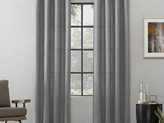 Scott living Dari Heathered Texture Semi Sheer Grommet Curtain Panel Pair