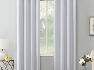 Sun Zero Hayden Energy Saving Blackout Grommet Curtain Panels Pair
