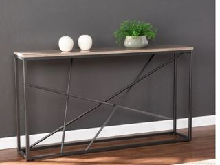 Strick   Bolton Sigrid Faux Marble Skinny Console Table  Retail 145 99  No Hardware
