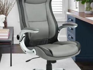 Porch  amp  Den Nehalem Black  Grey PU leather Excutive Desk Chair  Retail 229 99