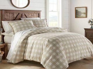 Stone Cottage Braxton Beige Cotton King Comforter Set  Retail 97 99